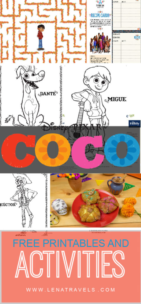 Disney Pixar S Coco Movie Recipes And Printables Simply Sweet Days