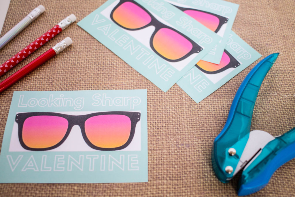 Tutorial for the Looking Sharp printable Valentine's Day cards
