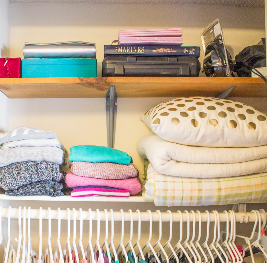 add storage to small home with extra shelves in closets