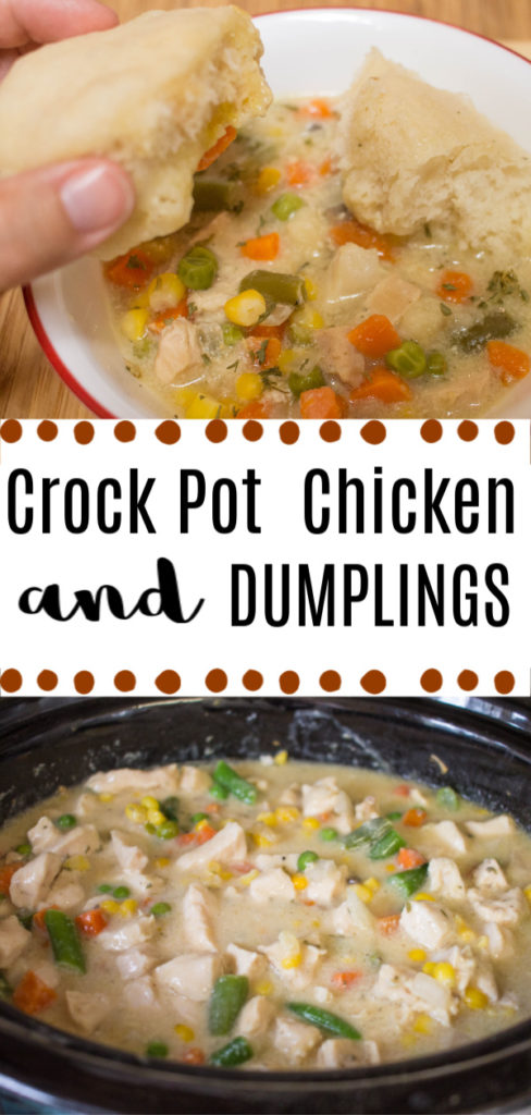 Easy recipe for crock pot chicken and dumplings
