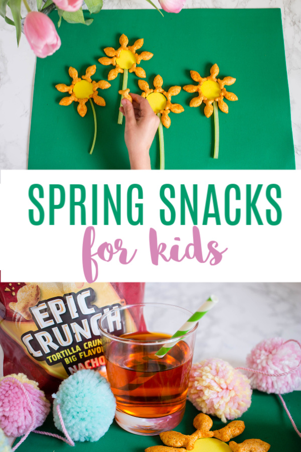 Step up your game with these easy and fun spring snacks for kids! @GoldfishSmiles #EpicCrunch #ad