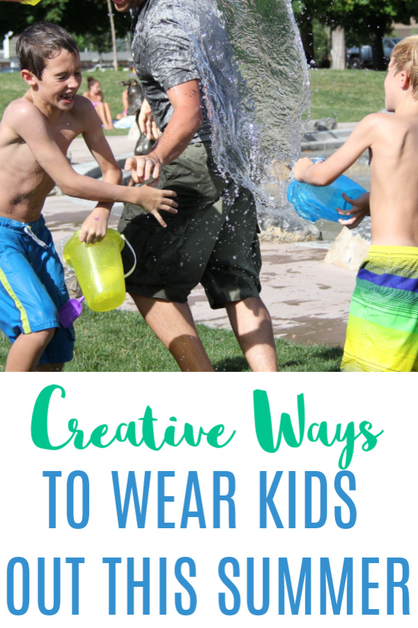 The goal is to come up with ways to wear out the kids this summer that don't take a lot of effort on my part. If you need ideas, I've got you covered!