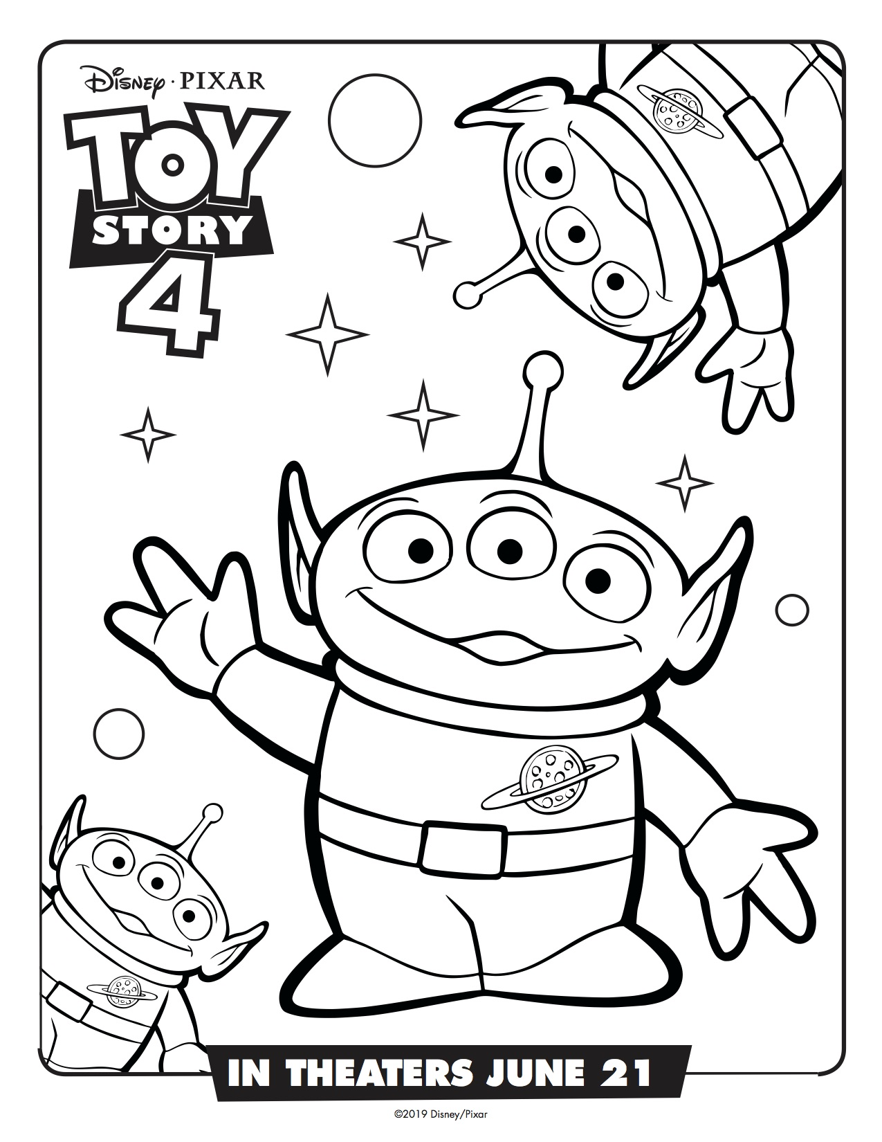 Toy-Story-4-Aliens-Printable-Coloring-Page Simply Sweet Days