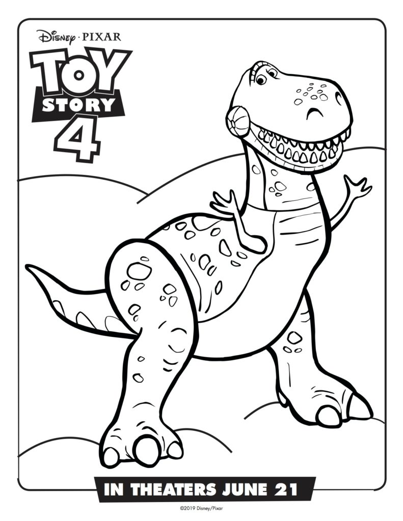 Toy Story 4 Activities and Coloring Pages | Simply Sweet Days