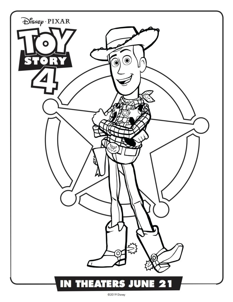 Toy Story 4 Activities and Coloring