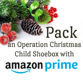 you can pack an operation christmas child shoebox with Amazon Prime