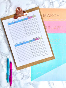 Free Printable Weekly Habit Tracker