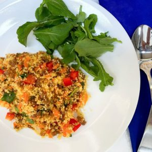 Colorful Couscous and Sausage Recipe