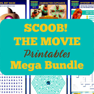 Mega Bundle of Scooby Doo printables, games and activities for your next Scooby Doo themed party or SCOOB! movie night watch party.