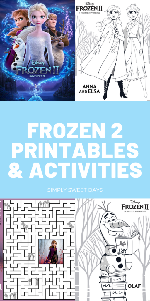 This post has all the Frozen 2 printable coloring pages I could get my hands on, plus some bonus activities.