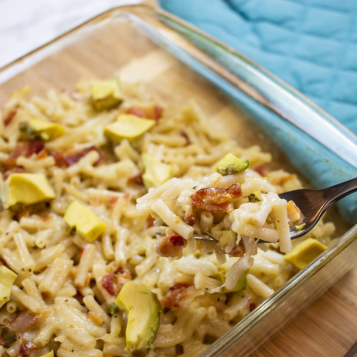 Easy Bacon Avocado Mac and Cheese