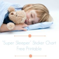 Bedtime Reward Chart when a Child Won't Stay in Bed