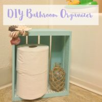 DIY Bathroom Organizer and Toilet Paper Holder