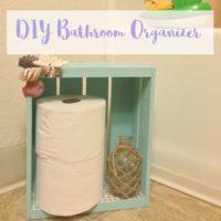 DIY Bathroom Organizer and Toilet Paper Holder
